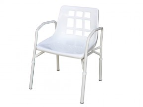 1312 Shower Chair Aluminium with Arms SWL 200kg