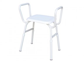 1560 Shower Stool Plastic Seat with Arms SWL 175kg
