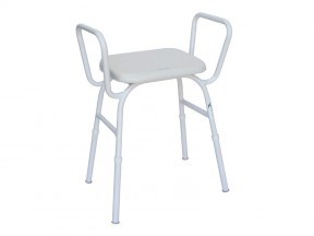1561 Shower Stool Padded Seat with Arms SWL 175kg