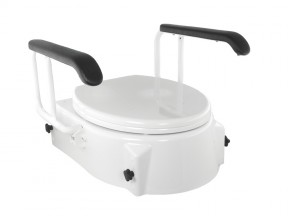 1740 Raised Toilet Seat with Arms SWL 150kg