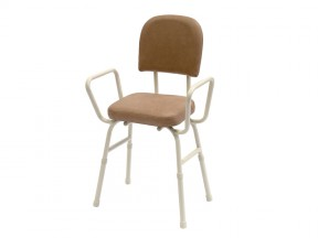 10801C Perching Stool with Arms Champagne