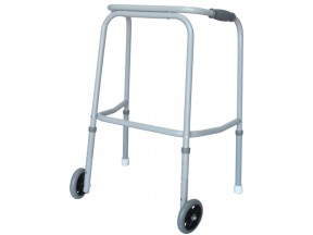 6541 Walking Frame Duralite with Wheels Gliders Tall Adult SWL 200kg