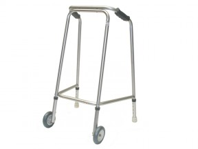 6561 Walking Frame Cooper Lightweight Domestic Width with Wheels Gliders Adult Max User Weight 160kg