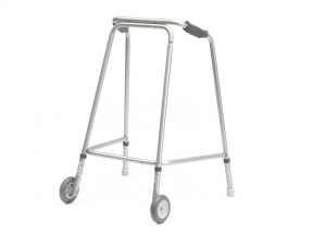 6580 Walking Frame Cooper Lightweight Hospital Width with Wheels Gliders Adult Max User Weight 160kg