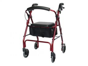 6760R Seat Walker Cruiser Deluxe Red SWL 175kg